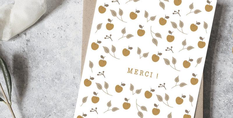 Carte postale - Post card - Merci Mirabelles