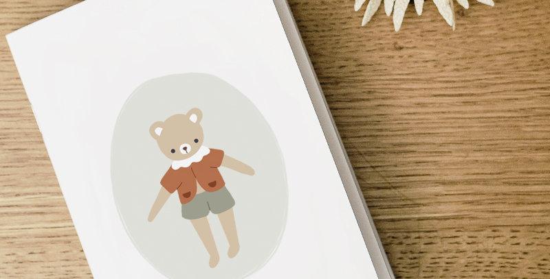 Carnet - Little Notebook - Mon petit ourson gris vert