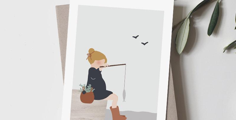 Carte postale - Post card - Week-end pêche