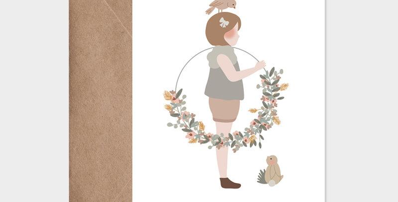 Carte postale - Postcard - La petite fille à la couronne / R