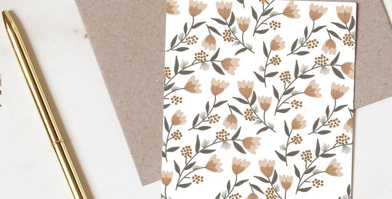 Carte postale - Post card - Motif de printemps