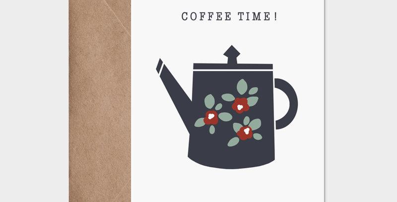 Carte postale - Postcard - Coffee time / R