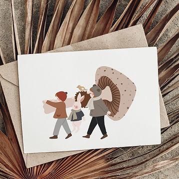 SI-photo-1---Champignon-géant---157x109---photo-carte-postale-automne-halloween-enfants-fo