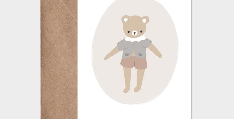 Carte postale - Post card - Mon petit ourson parme