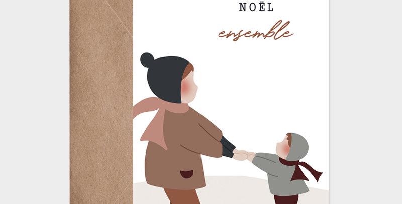 Carte postale - Postcard - Noël ensemble  / R