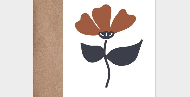 Carte postale - Postcard - Fleur 1 / R