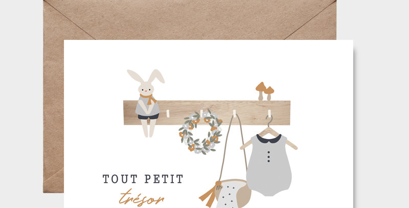 Carte postale - Postcard - Tout petit trésor garçon / R