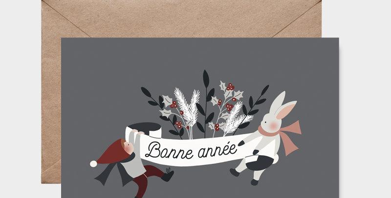 Carte postale - Postcard - Bandeau de fête / R