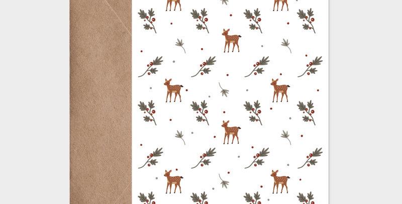 Carte postale - Postcard - Christmas Pattern / R
