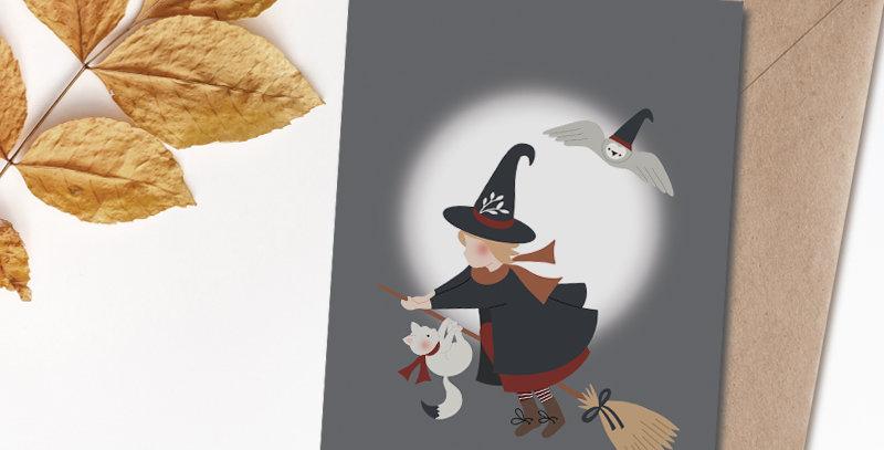 Carte postale - Post card - Ma petite sorcière bien aimée