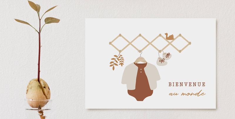 Carte postale - Post card - Bienvenue au monde / orange