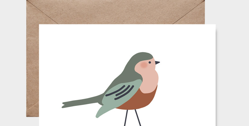 Carte postale - Post card - Moineau