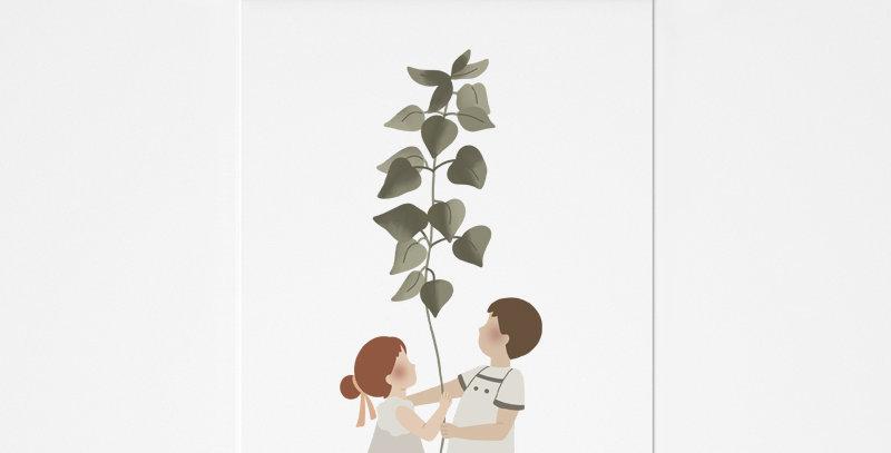 Affichette - Little Poster - La plante géante / R