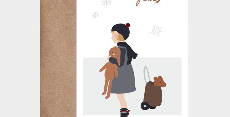 Carte postale - Postcard - La petite fille d'hiver  / R