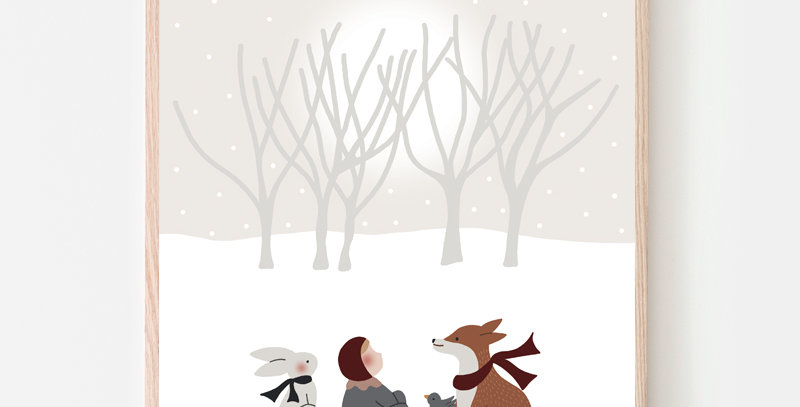 Affiche A4 - Poster A4 - Tombe la neige / R