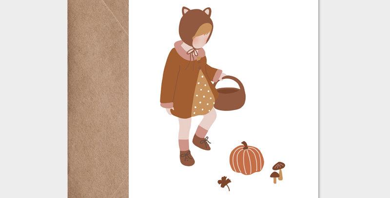 Carte postale - Postcard - Bébé d'automne / R