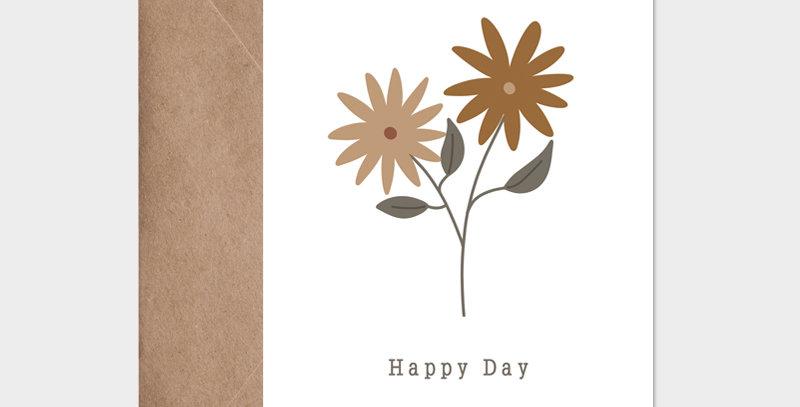 Carte postale - Postcard - Heureuse journée  / R