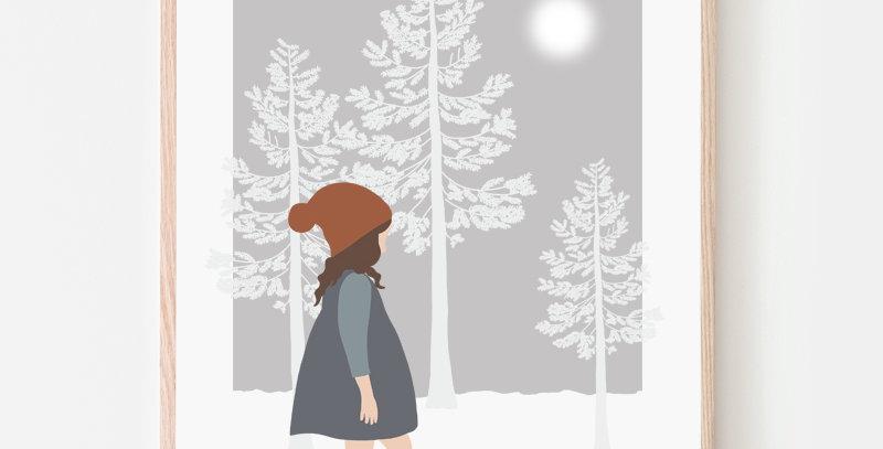 Affiche - Poster - Promenade dans les bois
