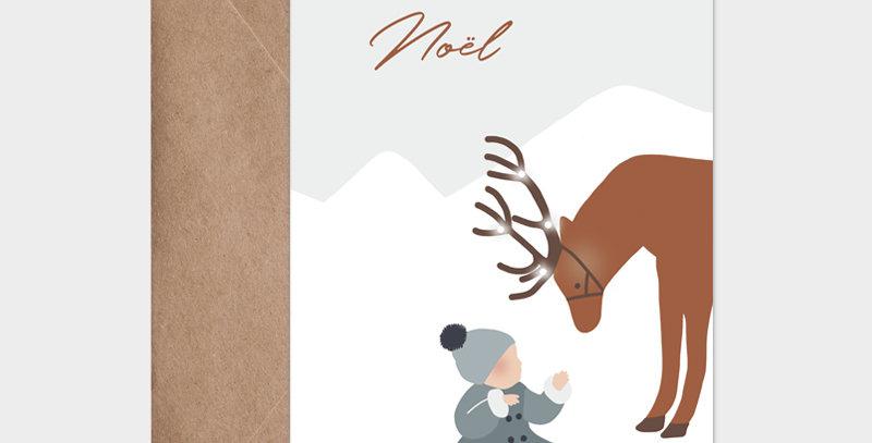 Carte postale - Post card - L'enfant et le Renne