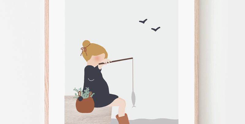 Affiche A4 - Poster A4 - Week-end pêche / R