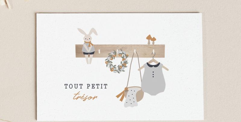 Carte postale - Post card - Tout petit trésor - Garçon