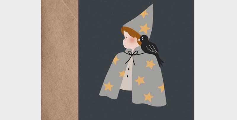 Carte postale - Postcard - Le petit magicien / R