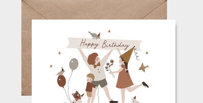 Carte postale - Postcard - Happy birthday / R
