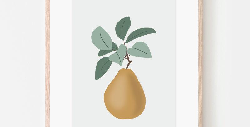 Affiche - Poster - Fruit de saison Poire Pear