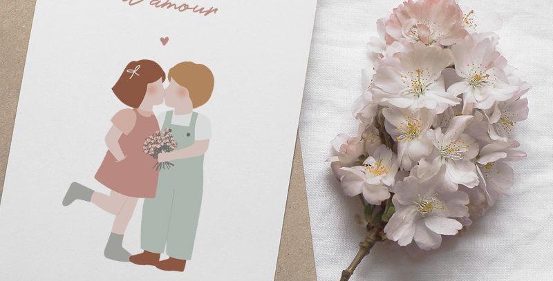 Carte postale - Post card - Les petits amoureux