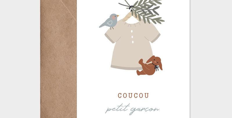 Carte postale - Post card - Blouse suspendue garçon