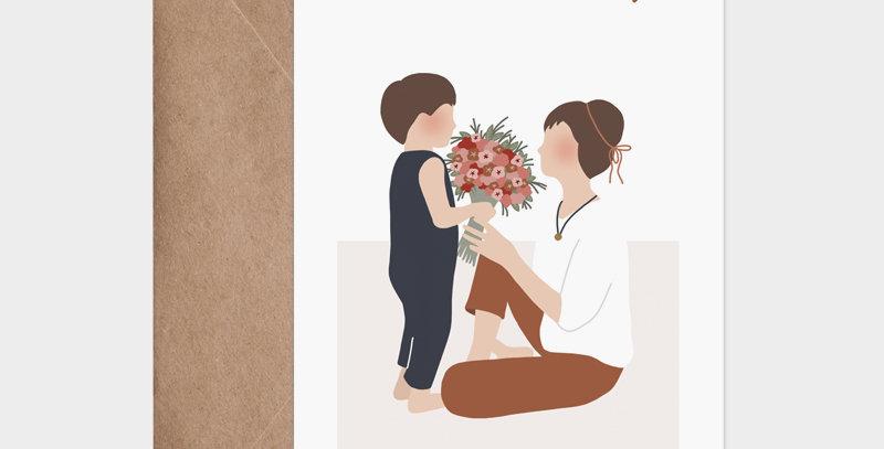 Carte postale - Post card - Maman Mummy