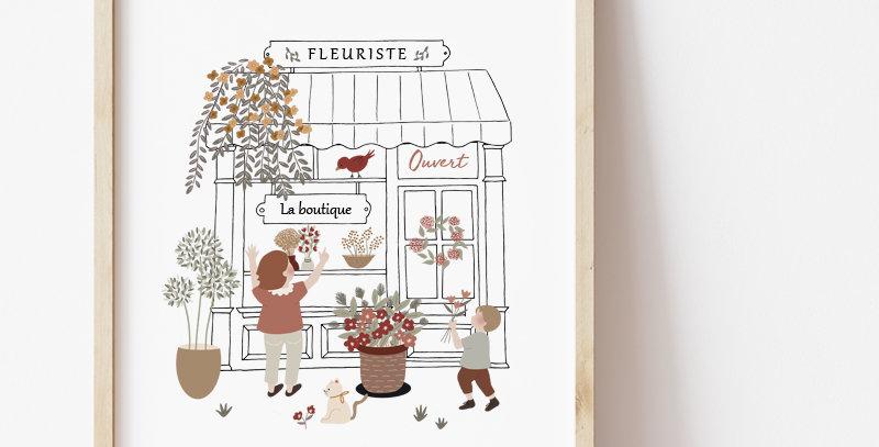 Affiche - Poster - Maman Fleuriste