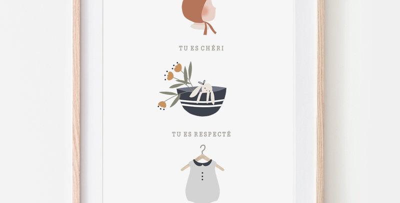Affiche A4 - Poster A4 - Tu es aimé / R