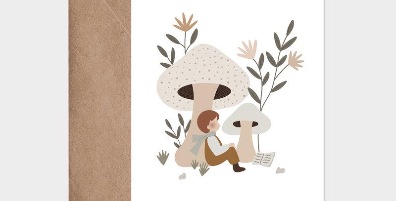 Carte postale - Postcard - Flâner sous les champignons / R