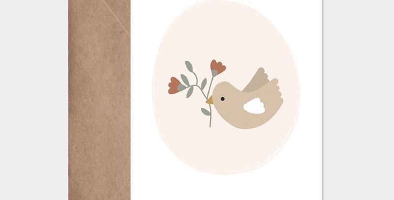 Carte postale - Postcard - Douce envolée rose / R