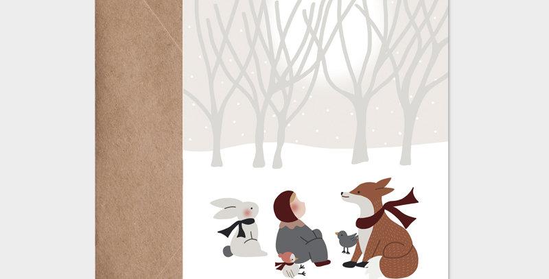 Carte postale - Postcard - Tombe la neige  / R