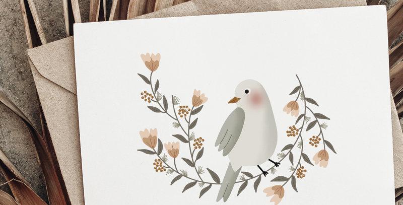 Carte postale - Post card - La couronne de l'oiseau