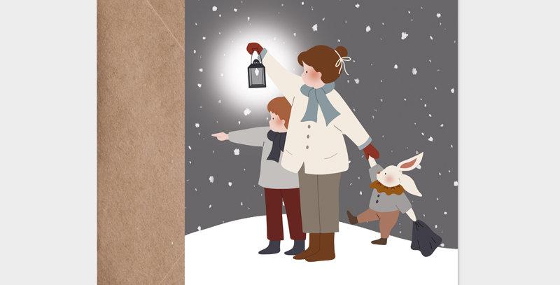 Carte postale - Postcard - Au loin / R
