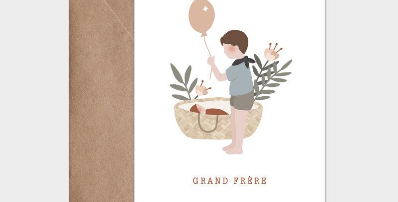 Carte postale - Postcard - Grand frère / R