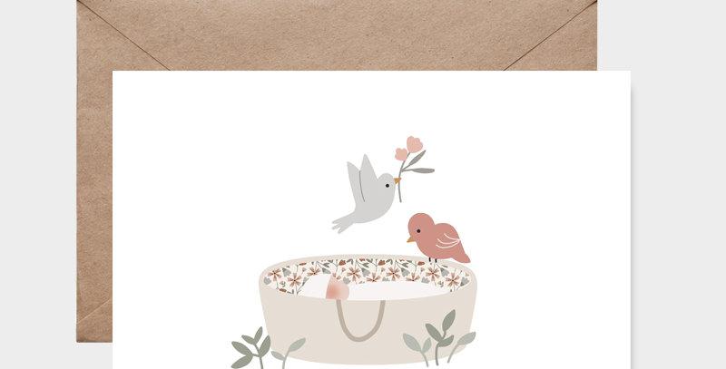 Carte postale - Postcard - Sur mon berceau fille / R