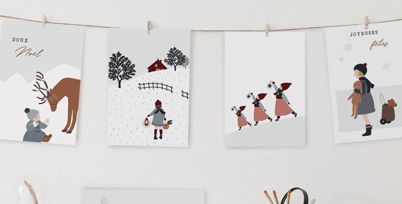 Cartes Postales - Post Card - Lot de cartes de voeux - Noël enchanté