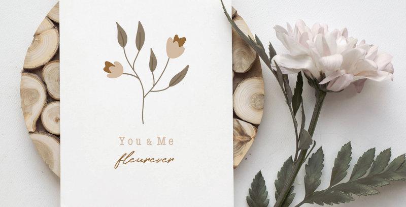 Carte postale - Post card - You and Me Fleurever