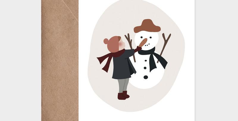 Carte postale - Postcard - Mon joli bonhomme de neige  / R