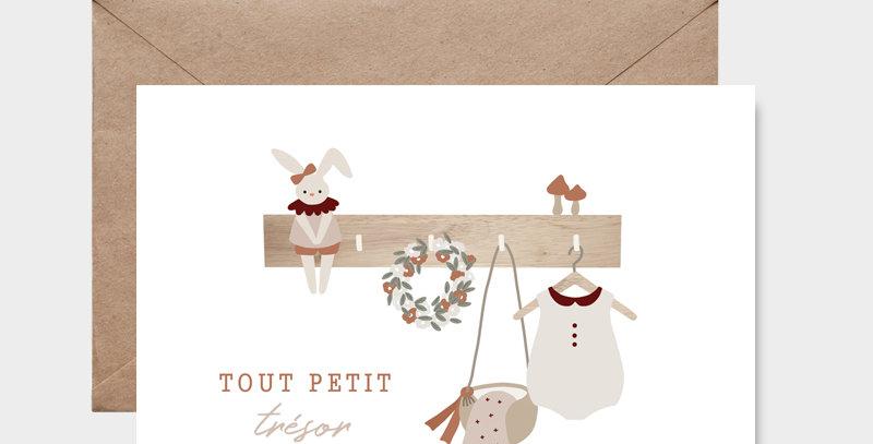 Carte postale - Postcard - Tout petit trésor fille / R