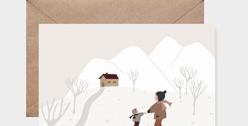 Carte postale - Postcard - Ensemble à la montagne  / R