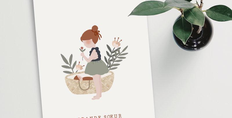 Carte postale - Post card - Grande soeur