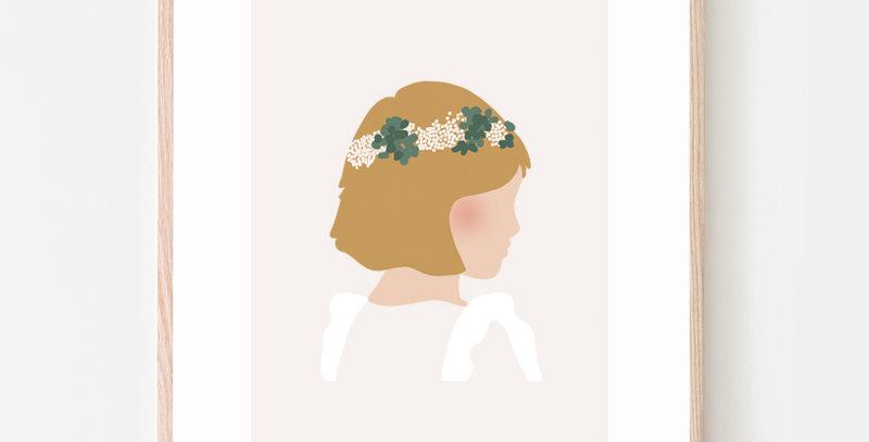 Affiche - Poster - Petite blonde cérémonie