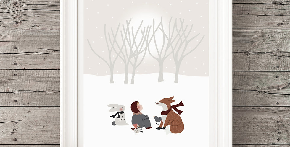 Affiche - Poster - Tombe la neige