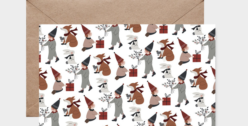 Carte postale - Postcard - Motif de Noël  / R