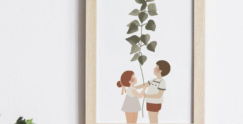 Affichette - Little Poster - La plante géante